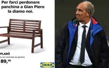 Italia: L'ironia di Ikea: «La panchina a Ventura gliela diamo noi»