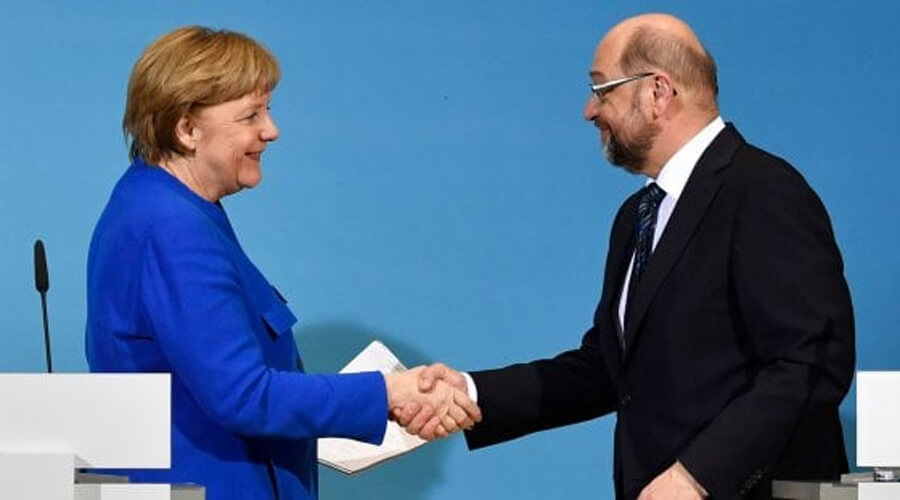 """Italia: accordo per Grosse-Koalition fa volare l'euro. Gentiloni: """"Buona notizia per l'Europa"""""""